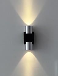 lampada da parete ha portato due luci caldo acrilico alluminio bianco 100 ~ 240v