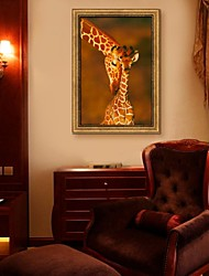 Giraffe Framed Canvas Print