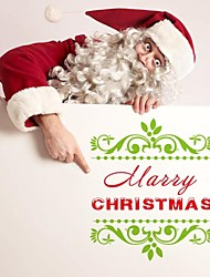 ZOOYOO® Cute Colorful PVC Removable christmas  beauty picture of  Wall Stickers Hot Selling Wall Decals For Home Decor
