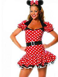 Costumes de Cosplay / Costume de Soirée Cosplay Fête / Célébration Déguisement Halloween Rouge Points Polka Robe / Coiffure Halloween