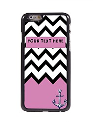 "Personalized Gift Pink Sea Wave and Anchor Design Metal Case for iPhone 6 (4.7"")"