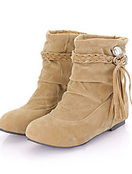 Lobo Fashion Tie Tassels Cream Short Boots