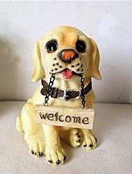 Creative Gifts Resin Craft Cute Dog with Welcome Home Furnishing