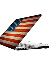 The U.S Flag Design Full-Body Protective Plastic Case for 13-inch/15-inch MacBook-Pro with Retina Display