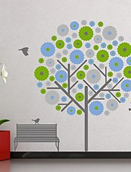 Wall Stickers Wall Decals,  Modern The bird leisure tree PVC Wall Stickers