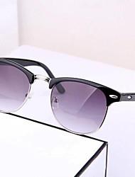 Retro-Meter Semi-Nails Metal Box Frame Glasses Sunglasses Fashion Sunglasses(Random Color)