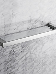 "Bathroom Shelf Stainless Steel Wall Mounted 560 x 130 x 30mm (20.1 x 5.11 x 1.18"") Stainless Steel Contemporary"