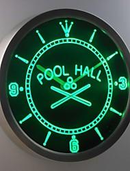 nc0350 Schwimmhalle Raum Bar Bier Leuchtreklame LED-Wand Uhr