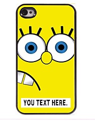 Personalized Case Cartoon Yellow Design Metal Case for iPhone 4/4S