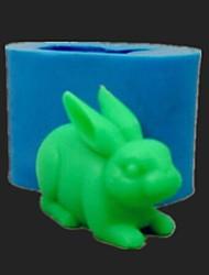 bolo de chocolate barro de resina molde de doces silicone fondant coelho, l7.2cm * w3.7cm * h4.8cm