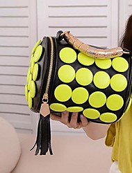 Women's Tassel Buttons Bucket Shoulder Bag CrossBody Hand Bag