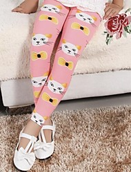 Girls Lovely Bowknot Cats Pants