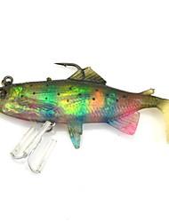 """3pcs silicone coloré réaliste leurre de pêche douce basse swimbait appât mérou silure appâts 3,35 tueur """"/0.42oz"""