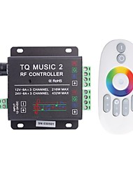 6A 3-Channel TQ RF Music RGB LED Audio Controller with Multifunction Remote for RGB LED Strip Lamp (DC 12-24V)