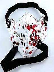 Masque Inspiré par Tokyo Ghoul Cosplay Anime Accessoires de Cosplay Masque Blanc Cuir PU Masculin