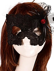 Women's Sexy Cut Out Lace Queen Costume Party Mask