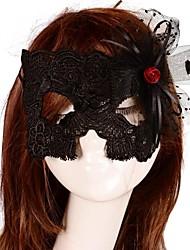 Vintage rote Rose Spitze bar Maske
