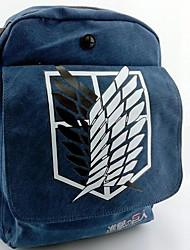 ataque a titan padrão asas liberdade lona preta bolsa de cosplay mochila