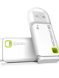 360 wi-fi sem fio flash drive 8gb usb salvamento branco