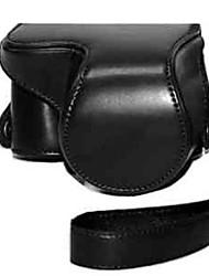 pajiatu pu lederen camera beschermende case tas hoes met schouderband voor sony nex-3NL nex-3n 3n 16-50mm lens