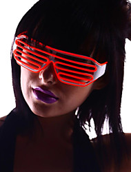 Light Up Shades Glasses with Red EL Wire LED Glow Sunglasses 2AA Batteries