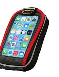 """Coolchange 5.2 """"Touchscreen Fahrradrahmen Taschen-schwarz + rot"""