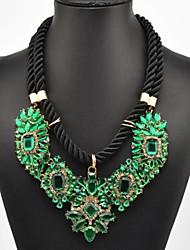 Women's Green Gem Necklace