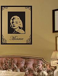 стикеры стены наклейки для стен, Мэрилин Монро наклейки ПВХ стеновые