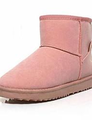 Botas ( Rosa/Catanho/Preto/Vinho ) - MULHERES - Sapatinho / Ankle Boots - Botas de Neve - Salto Raso - Pele Artificial