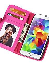Soft-Touch-Geldbörse PU-Leder Etui für Samsung Galaxy mini s5