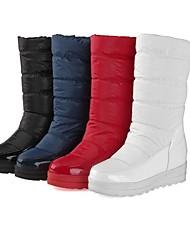 Zapatos de mujer - Plataforma - Botas de Nieve / Punta Redonda / Plataforma / Creepers / Botas a la Moda - Botas - Vestido -Cuero