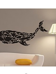 Wall Stickers Wall Decals, Whale Fish PVC Wall Stickers