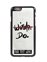 """cas personnalisé aucun désir mais ne concevoir boîtier métallique pour iPhone 6 (4.7 """")"""