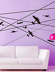 Wall Stickers Wall Decals,  Modern The plane PVC Wall Stickers