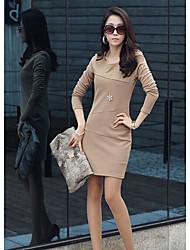 ol vestido magro das mulheres lavanda