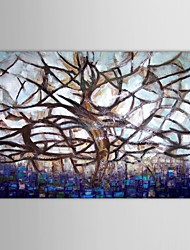 IARTS®Hand Painted Oil Painting Landscape Dead Standing Tree Acrylic Painting with Stretched Frame