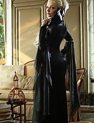 Luxurious Vampires Long Dress Black Adult Women's Halloween Costume