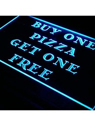 s019 Pizza Buy One Get One Free Cafe Neon Light Sign