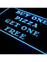 S019 Pizza comprar um obter um livre café sinal de luz neon