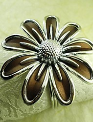 Hand Flower Napkin Ring In Chocolate Color,Acrylic Beades, 4.5CM, Set of 12