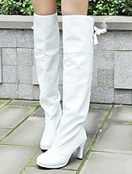 Women's Spring Fall Winter Leatherette Dress Stiletto Heel Black White