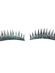 1 Pair Silver Shimmering Powder Eyelash