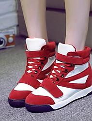 Chaussures femme ( Noir/Rouge ) - Simili Cuir - Marche