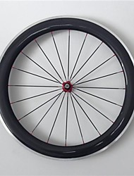 AURORA RACING Road 60C-20.5mm Carbon Clincher Road Bike Wheels With Alloy Brake