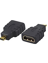 1PCS New HDMI Female to Micro HDMI Male F/M Converter Adapter Connector HD TV Camera Free Shipping