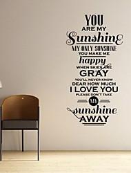 jiubai® вы мое солнце цитата наклейки наклейки на стены