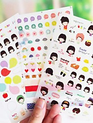 Girl Diary Deco Sticker(3 Sheets)