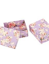 grandes rosas caixa de doce roxa