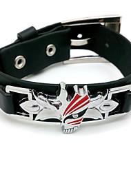eau de javel Ichigo Kurosaki style punk bracelet noir de cosplay pu