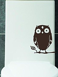 Cartoon The branches of the owl Toilet Sticker